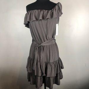 NWT Lauren Conrad one off shoulder dress Sz 8